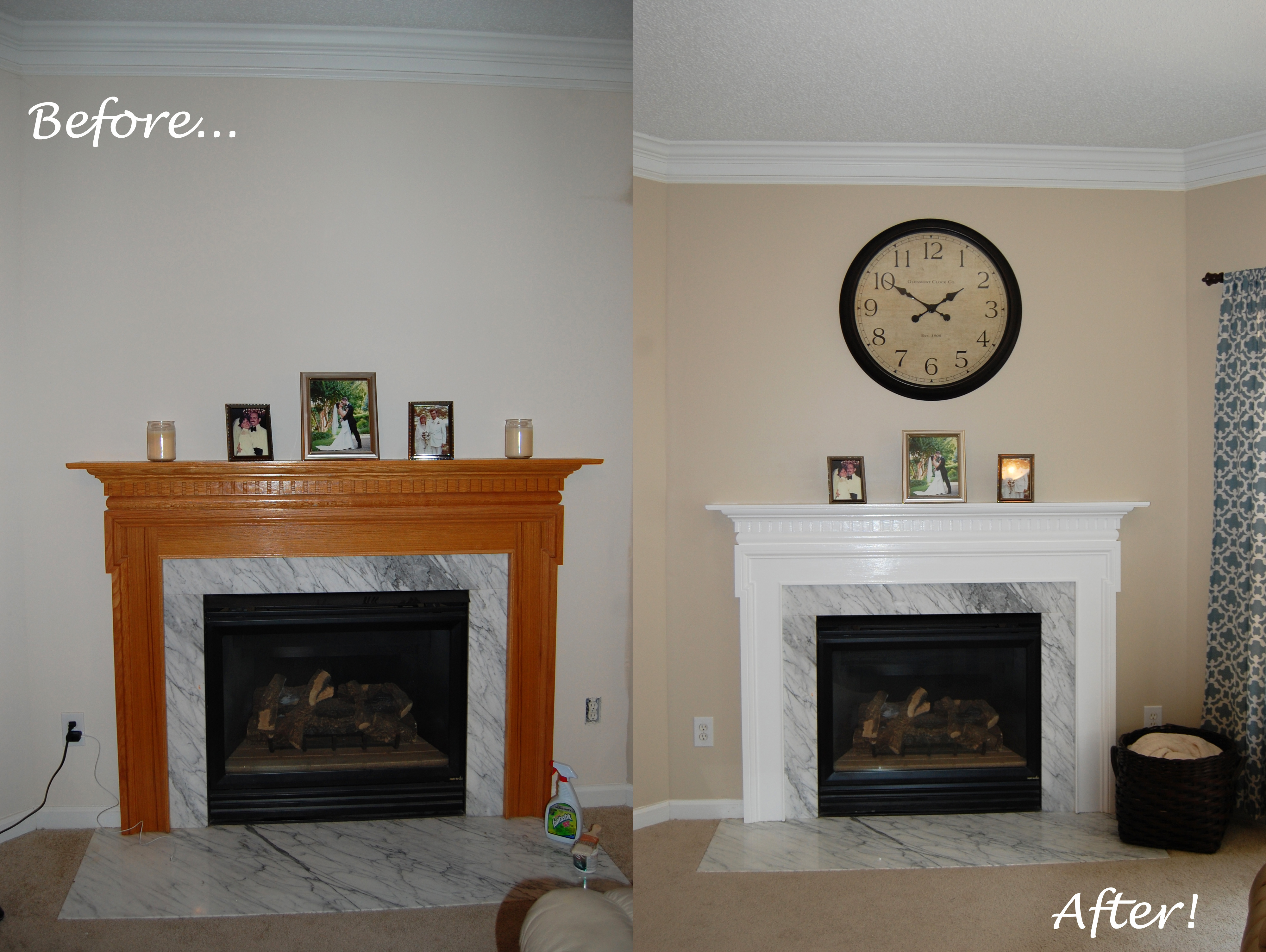 Fireplace Makeover | Excuse The Mess